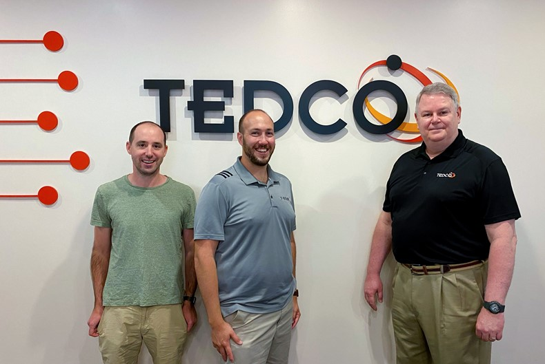 Pictured (left to right): Edward Holzinger, CTO; Maxwell Wieder, CEO; Jack Schammel, TEDCO